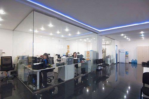 офисные цельностеклянные перегородки QUASAR-GLASS