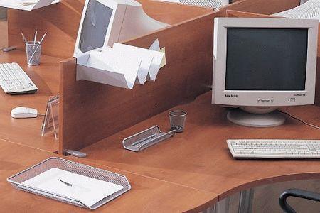 Безкаркасные настольные перегородки и экраны