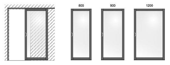 Усиленная раздвижная дверь и наиболее распространенные полотна
